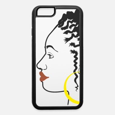 Afro woman with dreadlocks, gold earrings - iPhone 6 Case