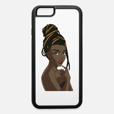 Teen Black manga girl with dread locks - iPhone 6 Case