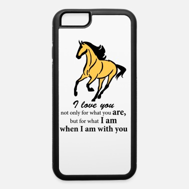 Quote Buckskin Horse with I Love You Quote - iPhone 6 Case