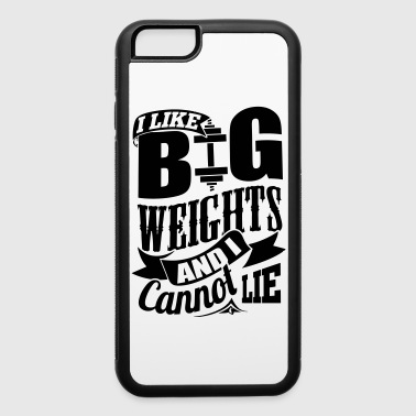 Big Weights Gym Exercise - iPhone 6/6s Rubber Case