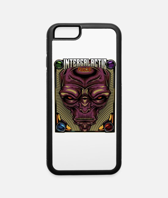 Space iPhone Cases - Intergalactic Race Cool Aliens Sci-Fi Martians - iPhone 6 Case white/black