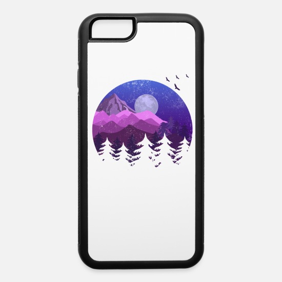 Nature iPhone Cases - Cool Nature Landscape Hiking Statement Hikers Hike - iPhone 6 Case white/black