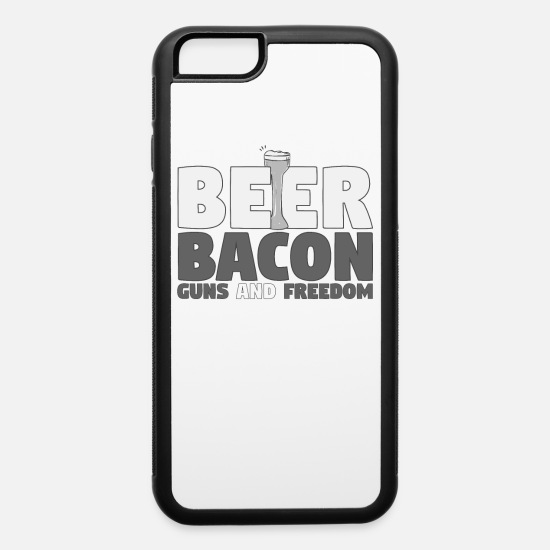 Drinking iPhone Cases - Proud American Beer Bacon Guns and Freedom - iPhone 6 Case white/black
