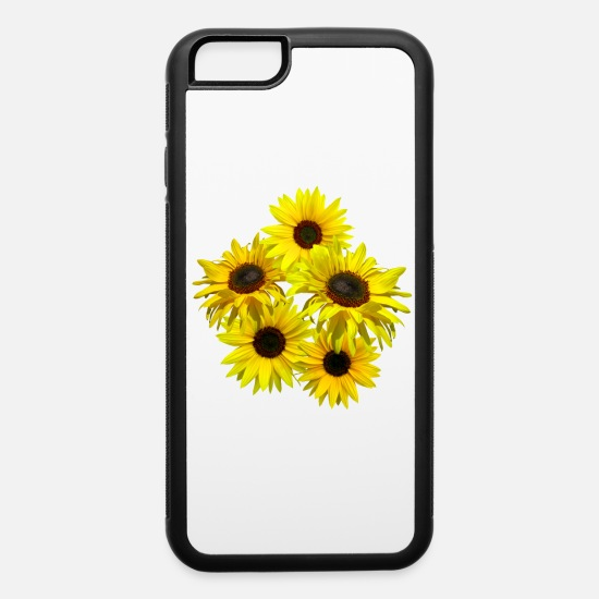 Floral iPhone Cases - blooming sunflowers sunflower bunch flowers blooms - iPhone 6 Case white/black