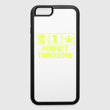 Adult Humor Novelty Graphic Sarcasm Funny T Shirt Perfect threesome - iPhone 6/6s Rubber Case