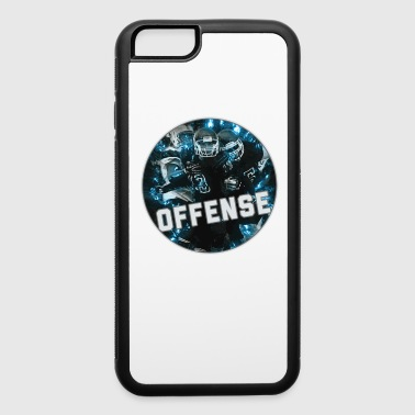 Football Team Hot Blue Fire Nifty Art Graphic Youth Gear Helmet Jersey on Black - iPhone 6/6s Rubber Case