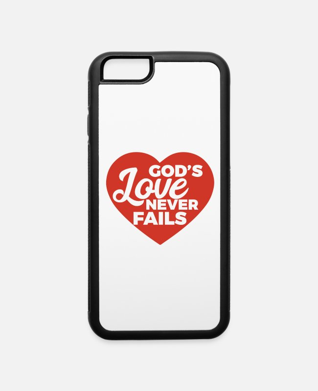 Cute iPhone Cases - Awesome & Trendy Tshirt Designs God s love never - iPhone 6 Case white/black