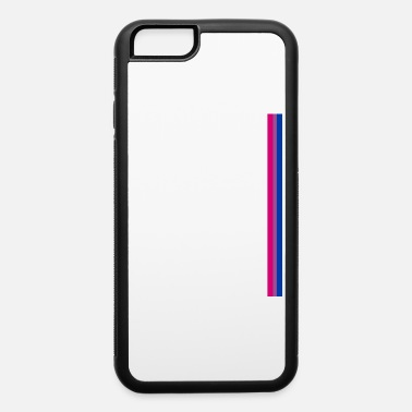 Gay Gay Pride LGBT Subtle Bisexual Bi Rainbow Stripe - iPhone 6/6s Rubber Case