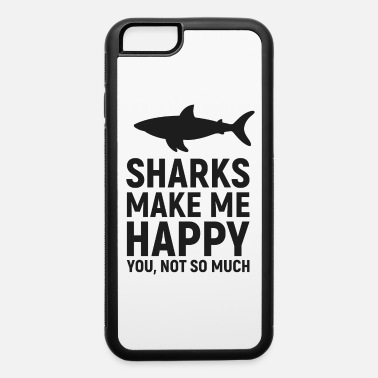 Beach Party Sharks Make me Happy you not so much - iPhone 6/6s Rubber Case