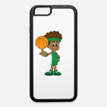 Jersey Number Basketball player has basketball turned on finger - iPhone 6 Case