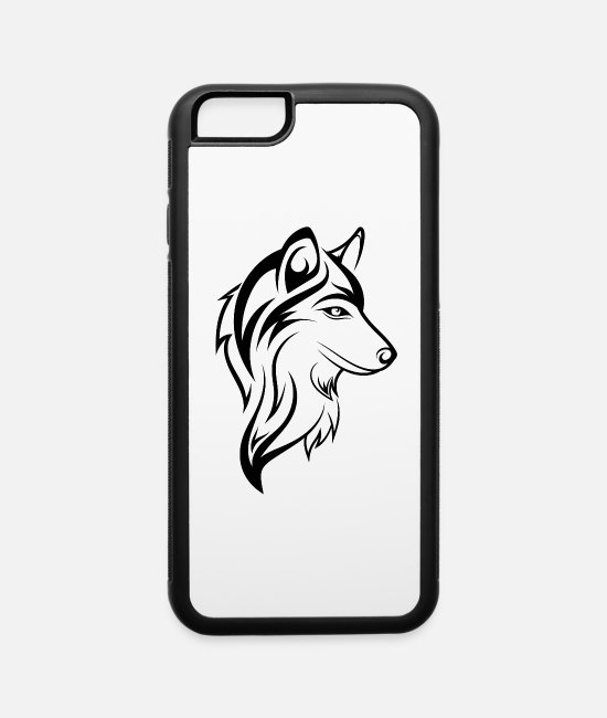 Dog Owner iPhone Cases - Dog head - iPhone 6 Case white/black