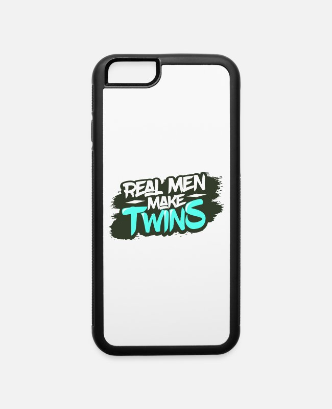 Pregnancy iPhone Cases - Twins Dad - iPhone 6 Case white/black