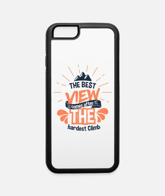 Mountains iPhone Cases - Climbing Mountain - iPhone 6 Case white/black