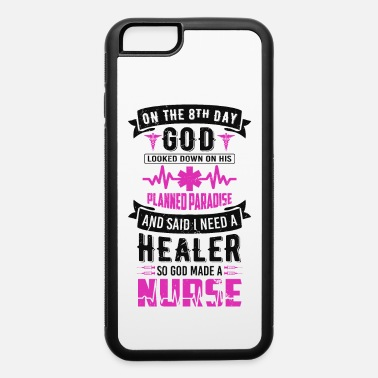God Made A God Made A Nurse Quote Vintage Typography - iPhone 6 Case