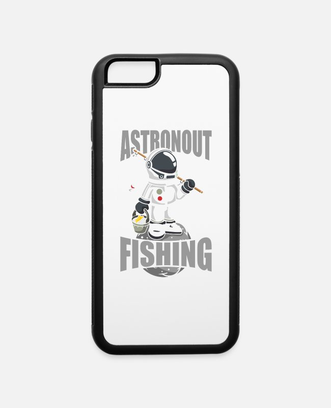 Catcher iPhone Cases - Astronout Fishing Gift - iPhone 6 Case white/black
