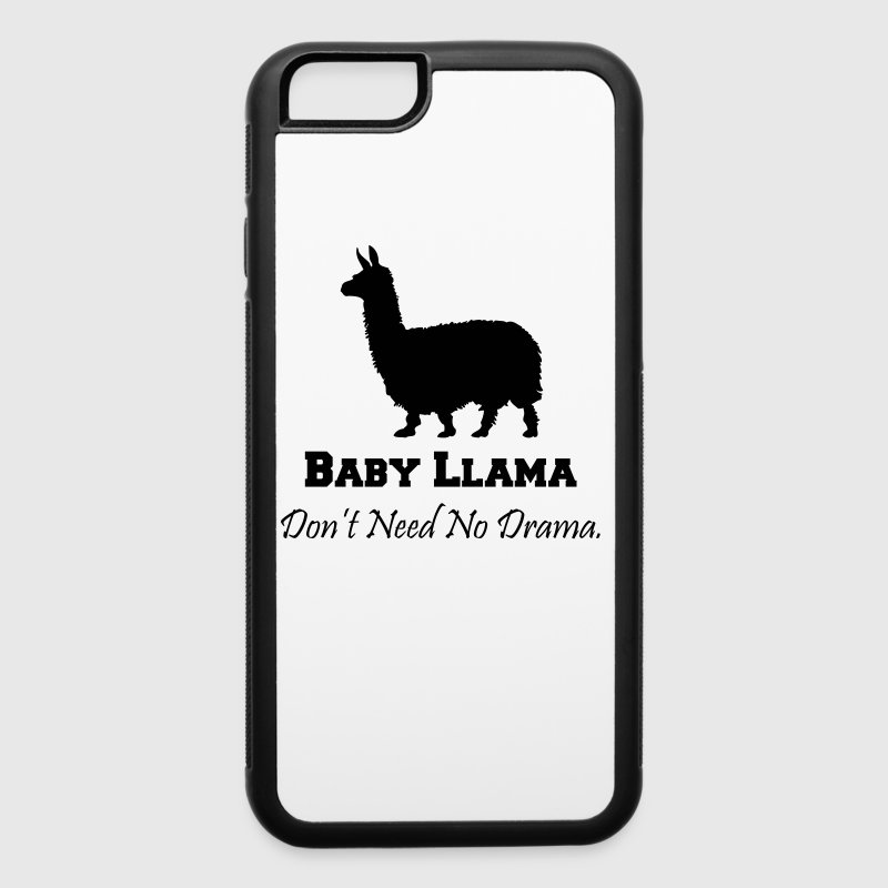 Baby Llama Don't Need No Drama - iPhone 6/6s Rubber Case