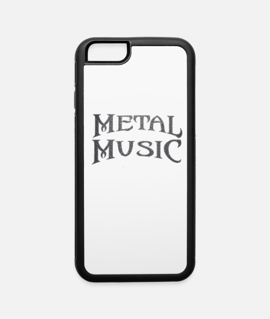 Guitar iPhone Cases - Metal music concert Guitar Head bang - iPhone 6 Case white/black