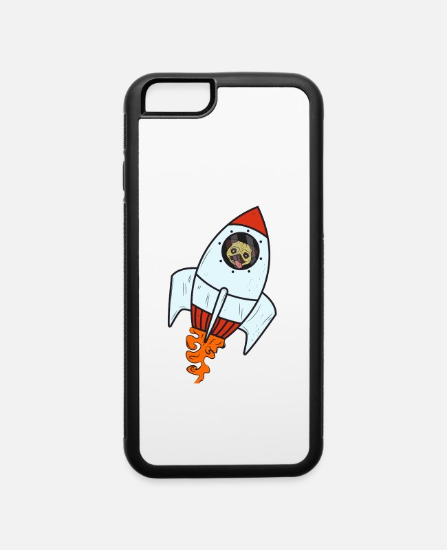 Space iPhone Cases - Dog Rocket Astronaut Space Paw Pet - iPhone 6 Case white/black
