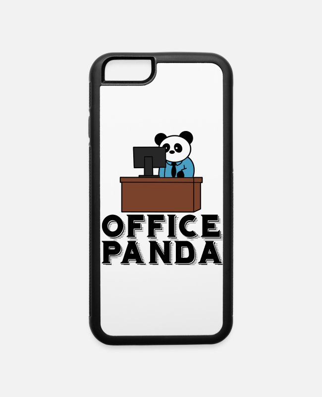 Office iPhone Cases - Office panda - iPhone 6 Case white/black