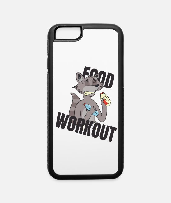 Water iPhone Cases - food workout - iPhone 6 Case white/black