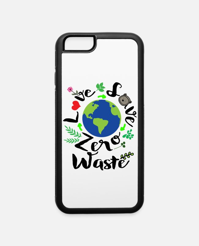 Zero iPhone Cases - Love save zero waste - iPhone 6 Case white/black