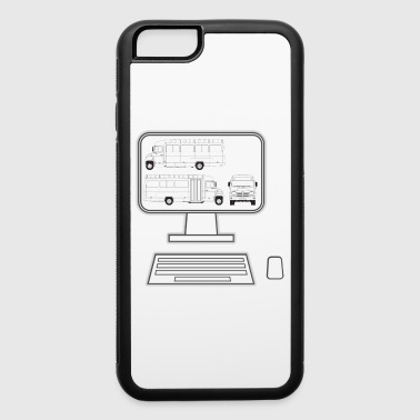pc truck - iPhone 6/6s Rubber Case