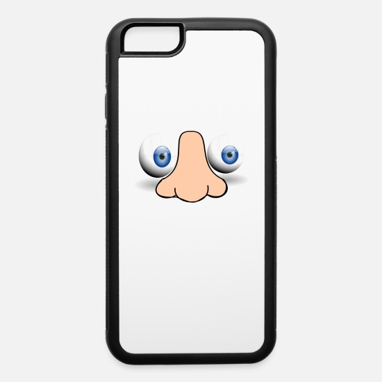 Nose iPhone Cases - eyes and nose - iPhone 6 Case white/black