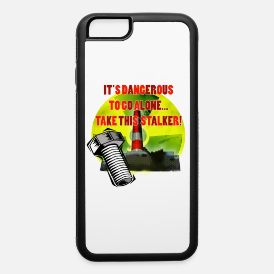Russia iPhone Cases - Radioactive Warning - iPhone 6 Case white/black