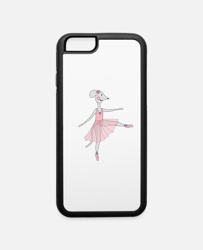 Dans iPhone Cases - Ballerina Mouse - iPhone 6 Case white/black