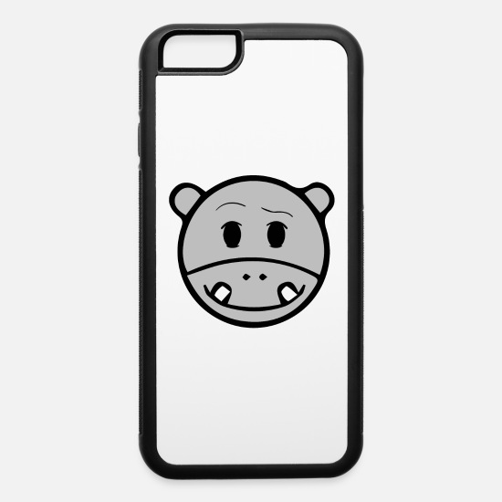 Gift Idea iPhone Cases - Emoticon Hippo - iPhone 6 Case white/black