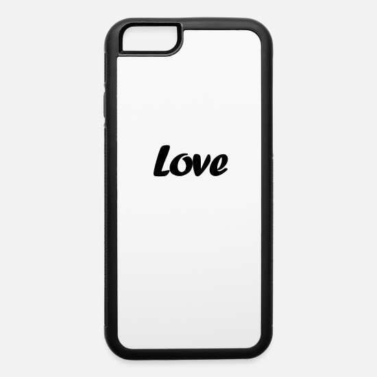 Romantic iPhone Cases - Simple Life: Love - iPhone 6 Case white/black