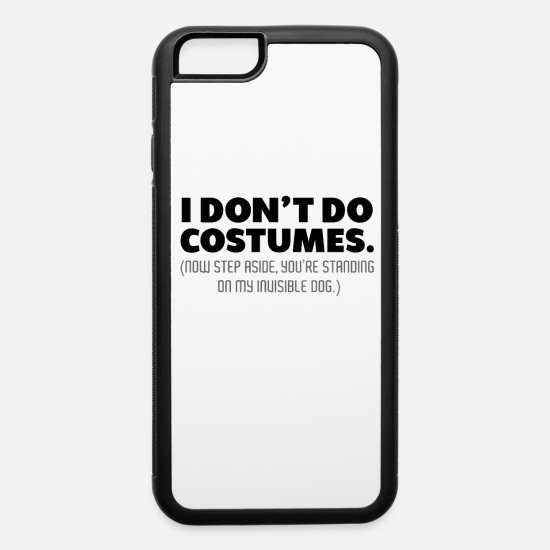Silly iPhone Cases - Halloween Costume - Against Invisible Dog - iPhone 6 Case white/black
