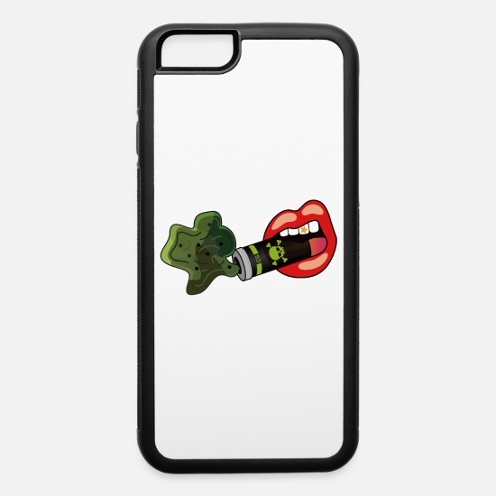Hong Kong iPhone Cases - Red Toxic Teargas Mouth Classic - iPhone 6 Case white/black