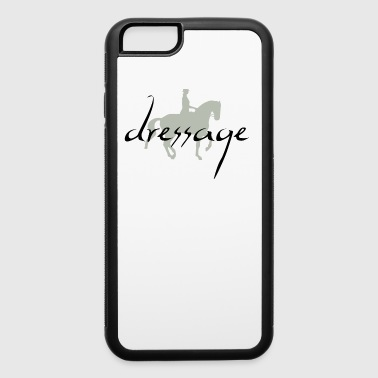 Piaffe Dressage Horse & Rider w/ Dressage Text - iPhone 6/6s Rubber Case