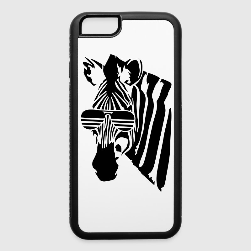 Zebra with glasses - iPhone 6/6s Rubber Case