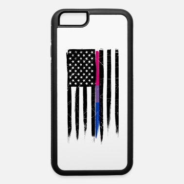 Bisexual Bisexual Thin Line American Flag - iPhone 6 Case