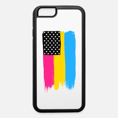 Paint Brush Pansexual Pride Stars and Stripes - iPhone 6/6s Rubber Case