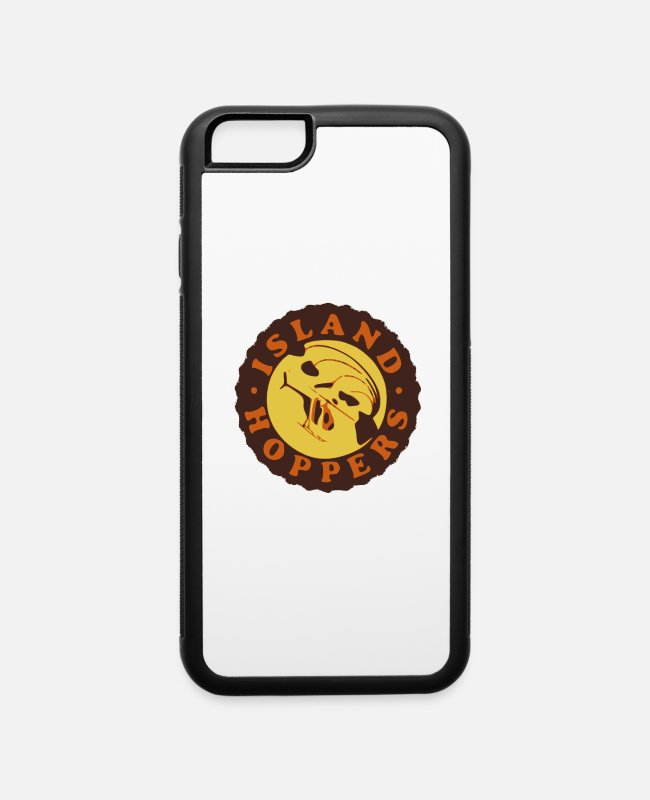 Palm Trees iPhone Cases - Magnum PI Island Hoppers - iPhone 6 Case white/black