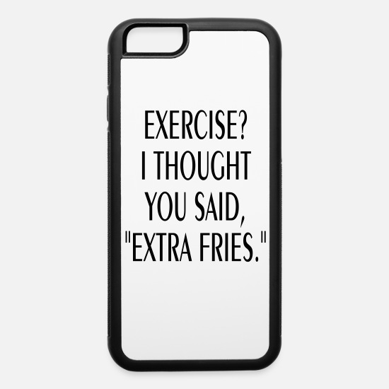 the best attitude 24e43 e99bd FUNNY EXTRA FRIES IPHONE6 CELL PHONE CASE iPhone 6/6s Rubber Case -  white/black