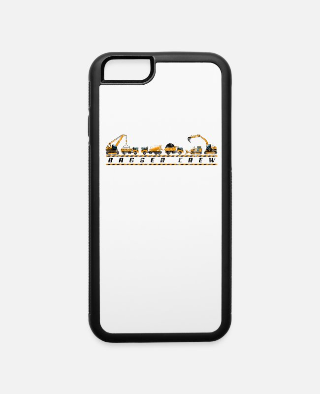 Site iPhone Cases - Excavator Excavator Kids Boys - Excavator Crew - iPhone 6 Case white/black
