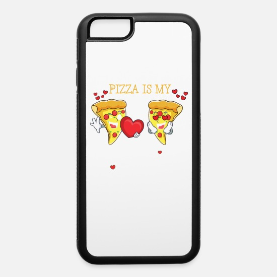 Funny Animals iPhone Cases - Pizza Is My Valentine - iPhone 6 Case white/black