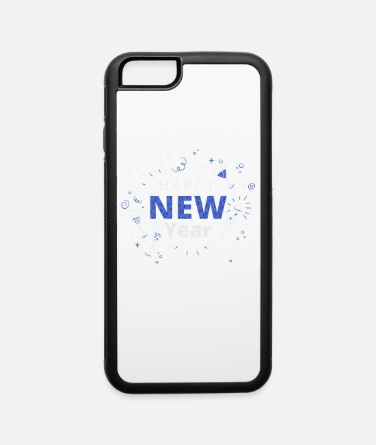 New Year's Wishes iPhone Cases - New Year Gift, New Year's Eve, Happy New Year - iPhone 6 Case white/black