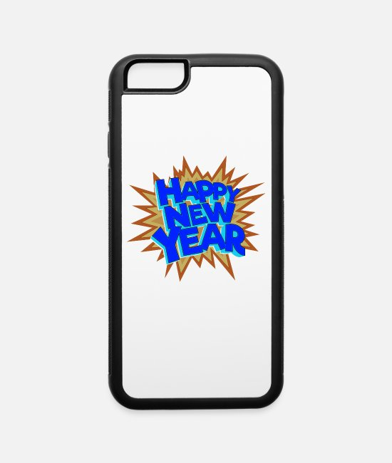 New Year's Wishes iPhone Cases - New Year's wishes, New Year's Eve, New Year's Eve - iPhone 6 Case white/black