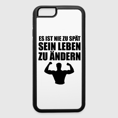 Aesthetic es ist nie zu spaet black - iPhone 6/6s Rubber Case