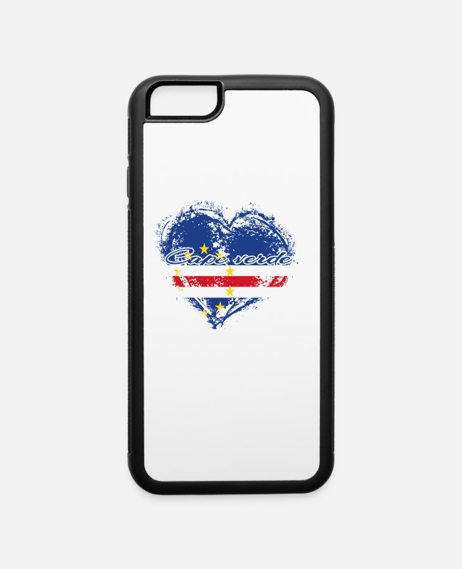 Homeland iPhone Cases - HOME ROOTS COUNTRY GIFT LOVE Cape verde - iPhone 6 Case white/black
