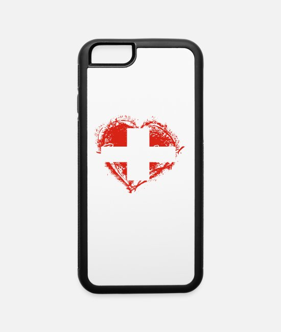 Homeland iPhone Cases - HOME ROOTS COUNTRY GIFT LOVE Switzerland - iPhone 6 Case white/black