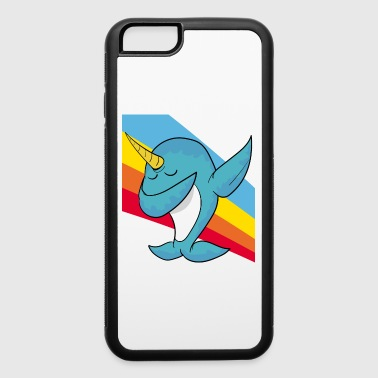 Retro Vintage Pop Art Style Dabbing Dab Narwhal - iPhone 6/6s Rubber Case
