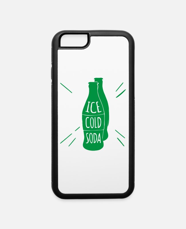 Water iPhone Cases - Free Hand Drawn Soda - iPhone 6 Case white/black