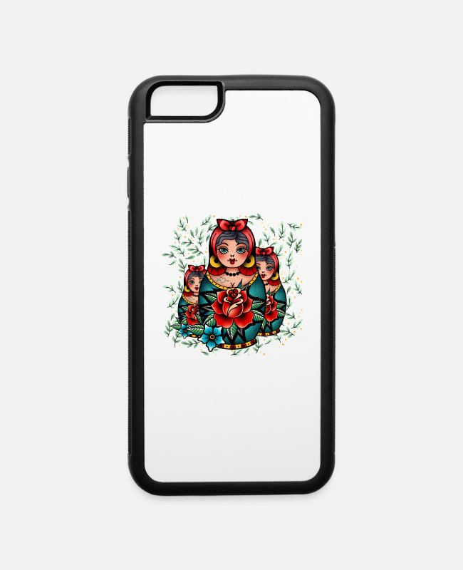 Cute iPhone Cases - Matryoshka babushka doll - iPhone 6 Case white/black