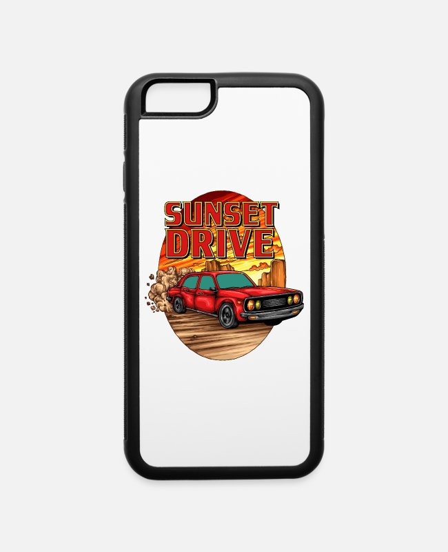 Sunset iPhone Cases - Sunset Drive - iPhone 6 Case white/black